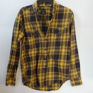 Faded Glory Blue and Yellow Flannel